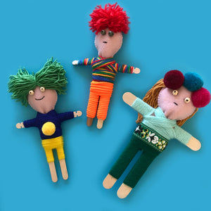 Make your own worry dolls with this fun kids craft activity