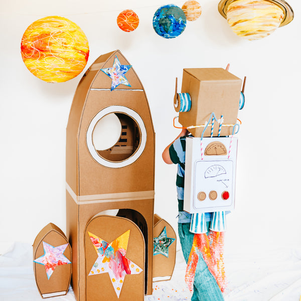 Space rocket and astronaut costume for kids
