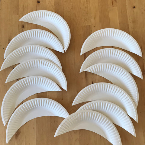 Paper plate ranibow angel wings for kids