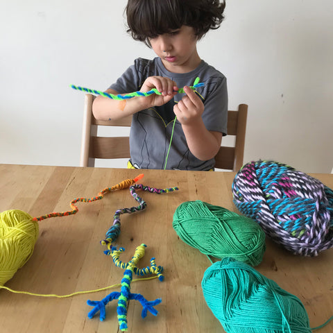 Lids crafts pipe cleaner animals