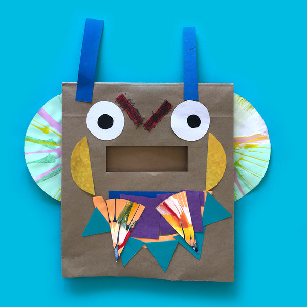 Fun paper bag mask kids craft activity