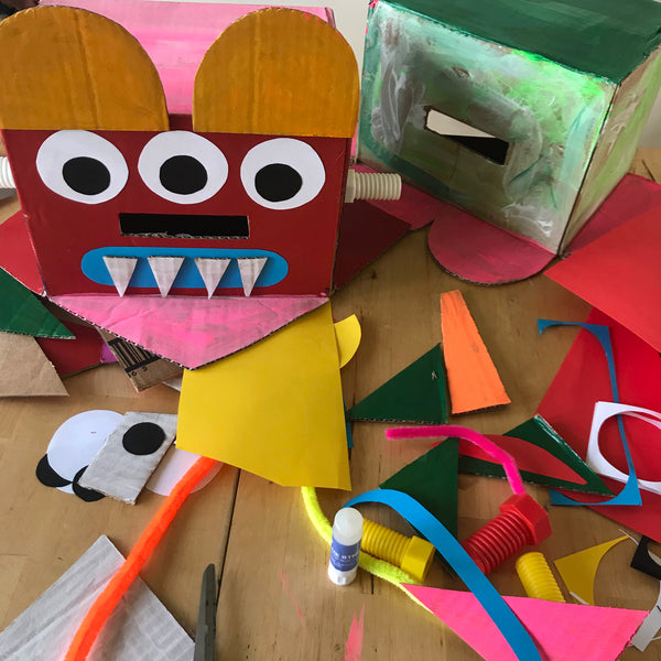 Monster heads children's craft activity