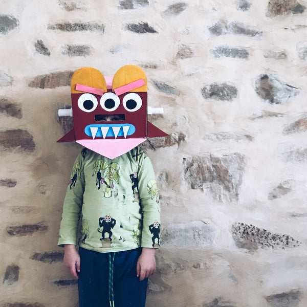 cardboard box monster masks