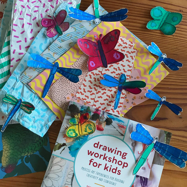 beautiful painted bugs and the book drawing workshop for kids