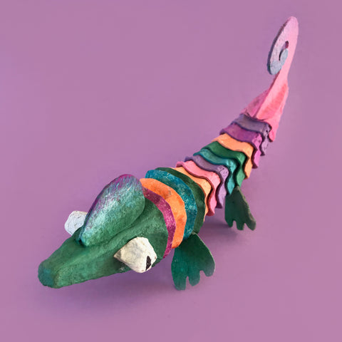 egg carton chameleon kids crafts