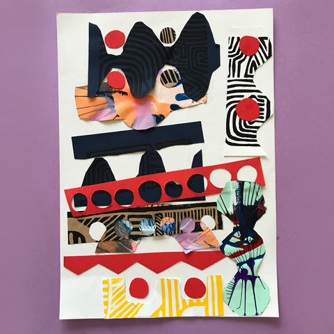 Children's art collage by Mini Mad Things