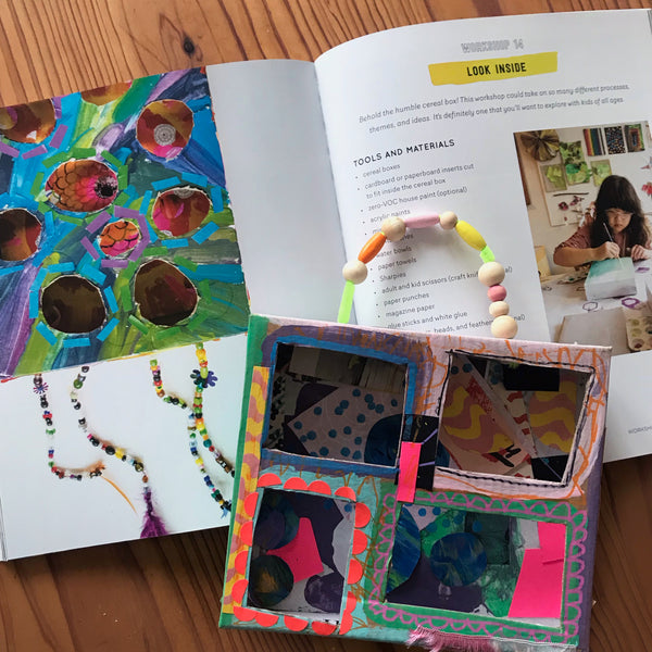 look inside collage art project for children