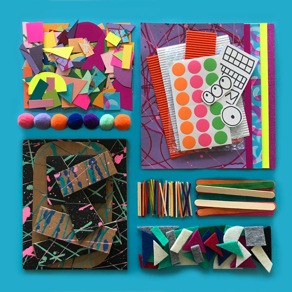 Collage creative kids craft kit materials