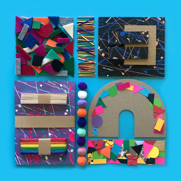 Collage creative eco-friendly kids craft kit