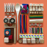 loose parts tinker tray craft materials