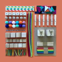 Loose parts construction craft kit