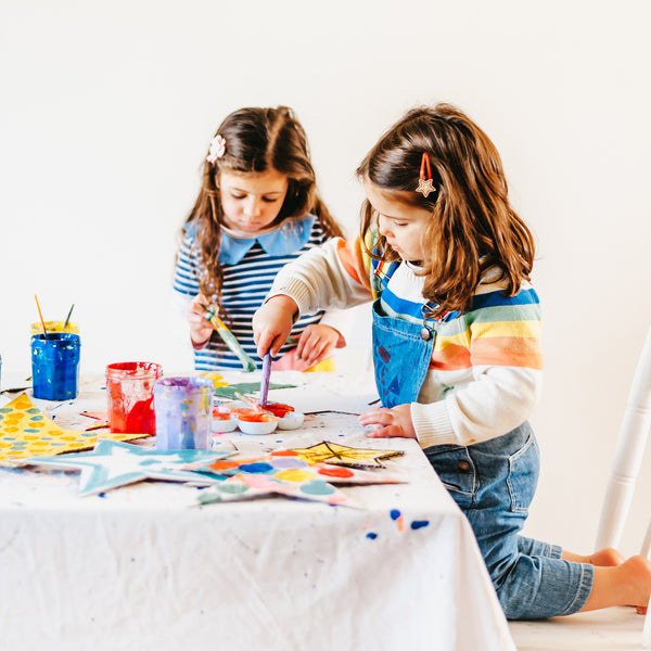 children painting, an image from unboxed, a kids craft book