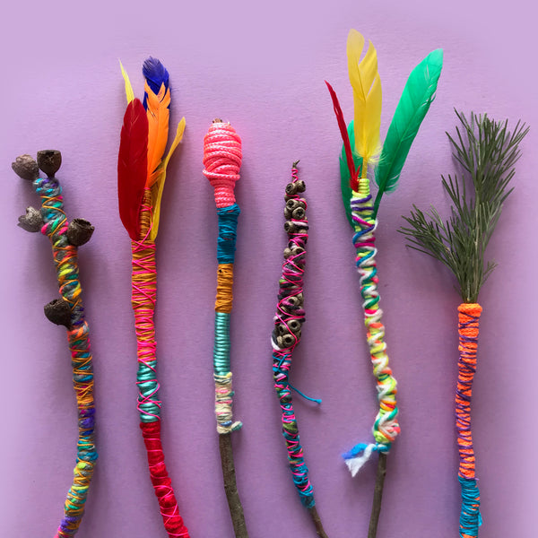 nature magic wand fun kids craft