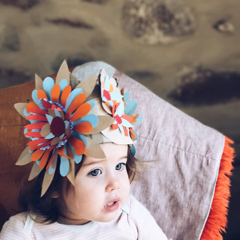 Make your own flower party crown by Mini mad Things