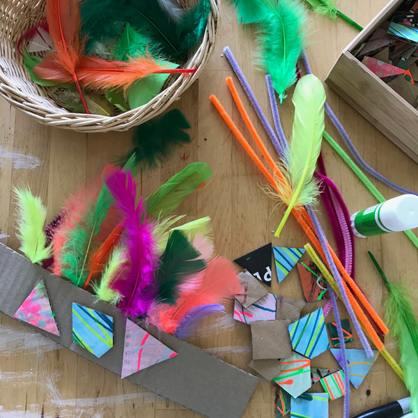 DIY kids party crowns craft