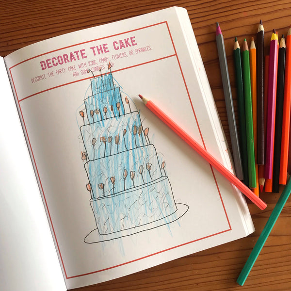 kids drawing of a cake