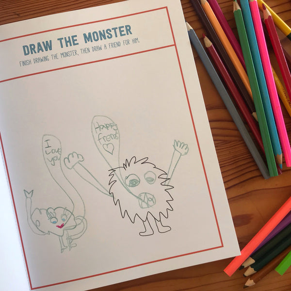 monster drawing by kids