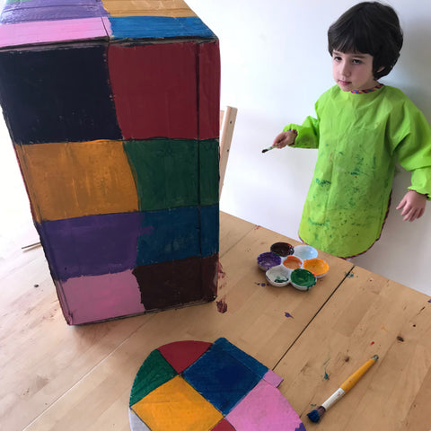 How to make an Elmer the Elephant cardboard costume