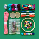embroidery and weaving kids craft kit
