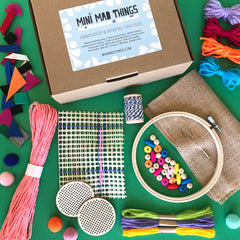 Embroidery and weaving craft box