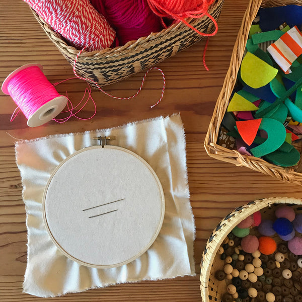 Materials for embroidery