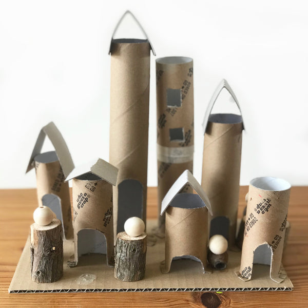 Fairy castle kids craft activity made using recycling
