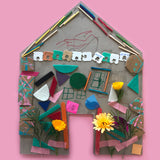 Collage house craft project for kids