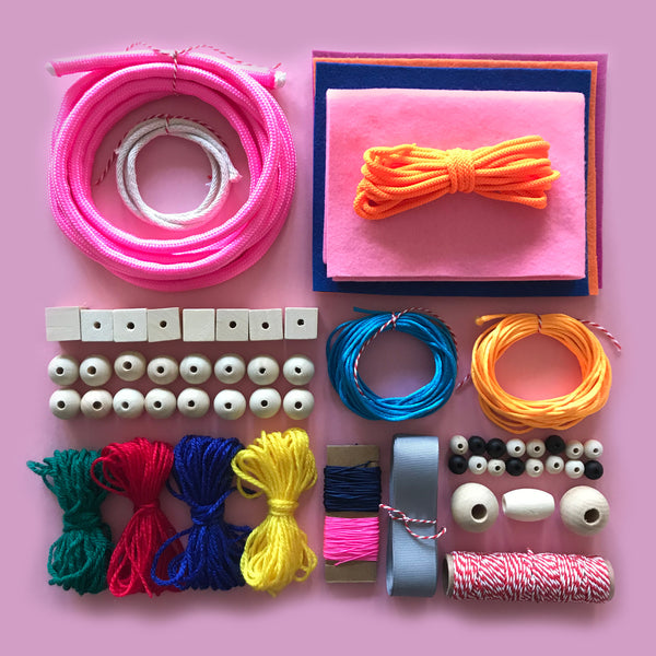 Contemporary kids jewellery making craft kit