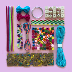 Jewellery and weaving kids craft box
