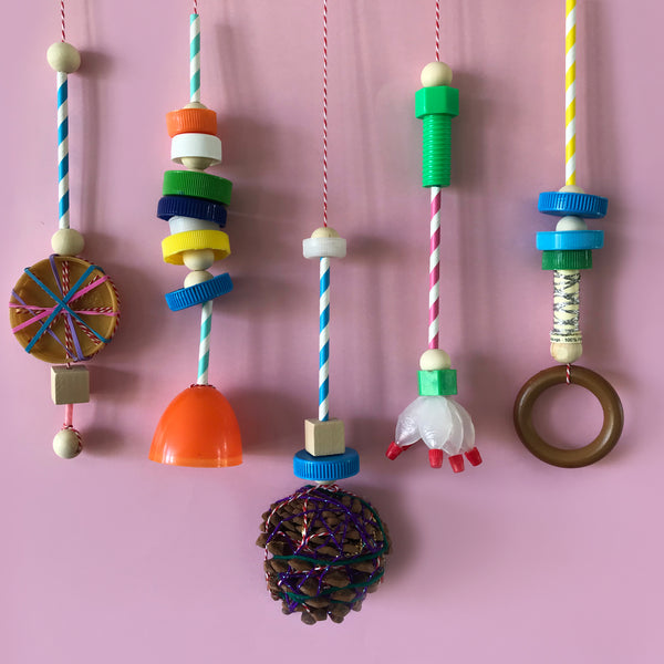 DIY recycled mobile fun kids craft activity