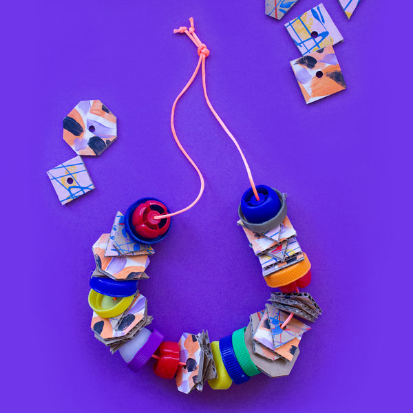 Junk necklaces kids jewellery craft project