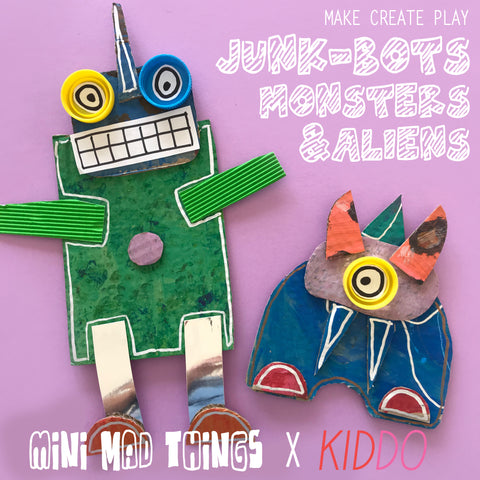 Free kids craft activities with Mini Mad Things and KIDDO magazine