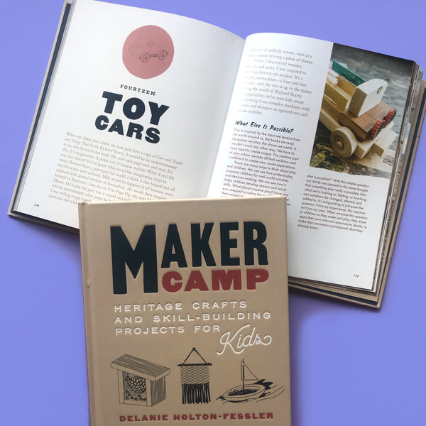 Toy car craft project from the book Maker camp
