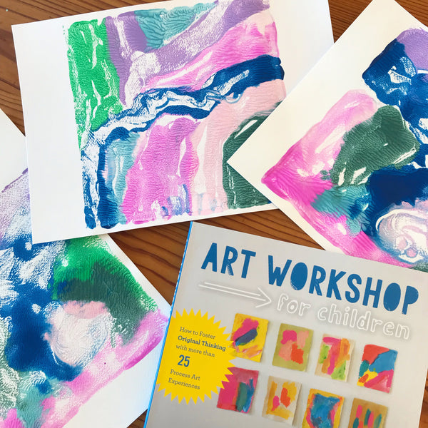 mono prints and the book art workshop for children