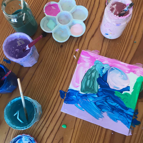mono printing art project for children