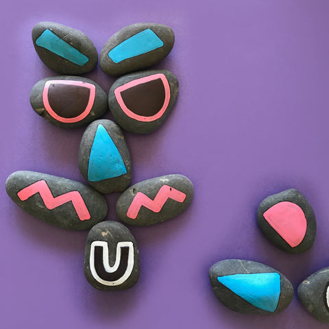 painted rock faces kids art