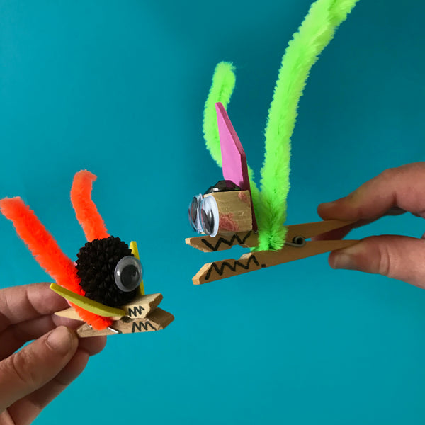 Peg monsters children's crafts by Mini Mad Things