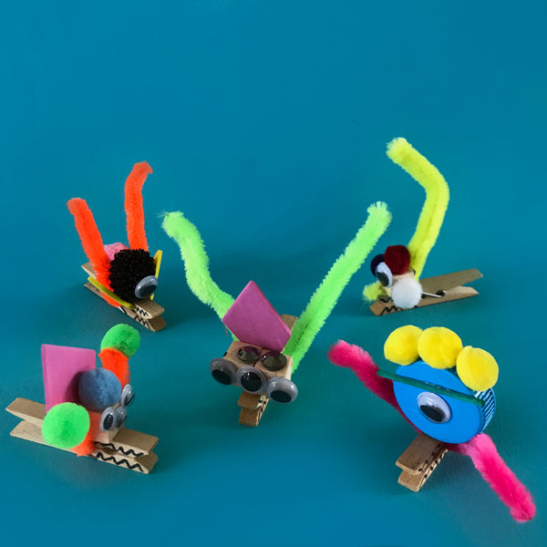 Clothes pin monsters kids craft