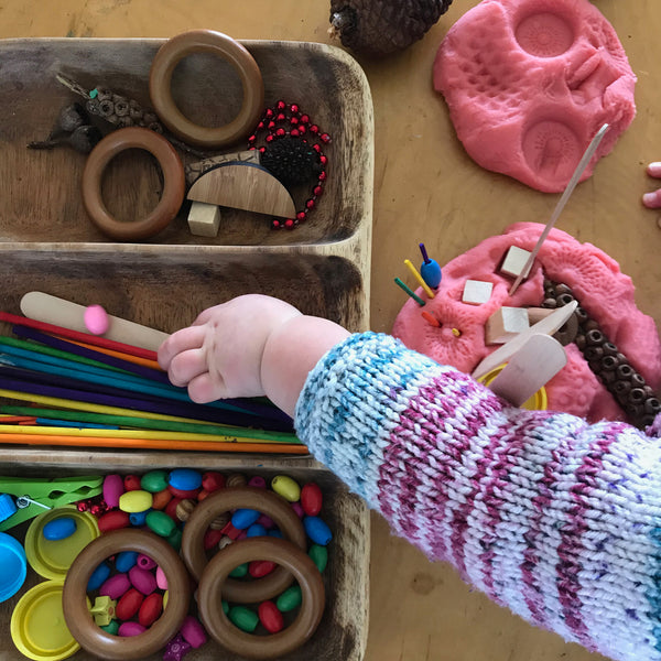 Play dough and small parts kids play activities