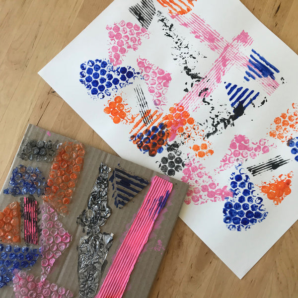 Simple printing art project for children