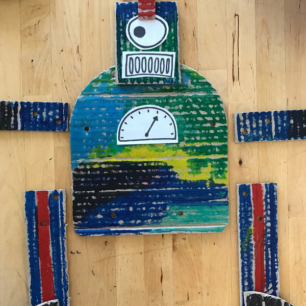 Jumping jack robot puppet kids craft activity