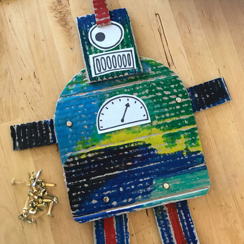 Jumping jack robots kids crafts by Mini Mad Things