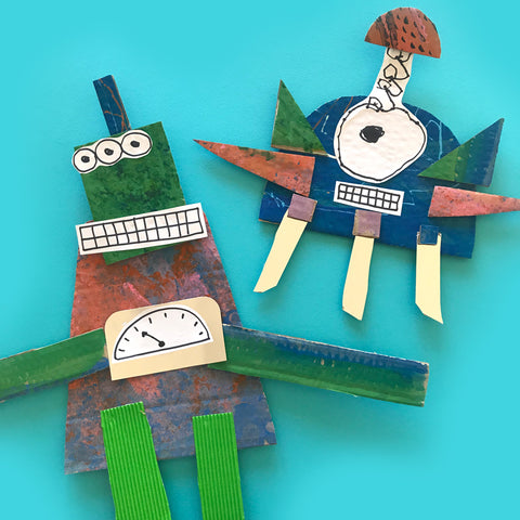Robot collage crafts for kids