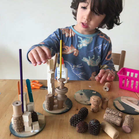 Small parts wooden kids sculptures by Mini Mad Things