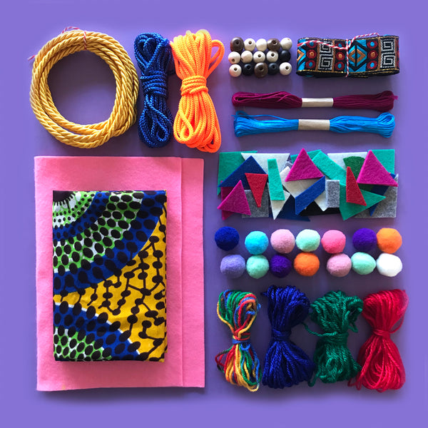 Sewing and weaving children's craft kit made in Australia