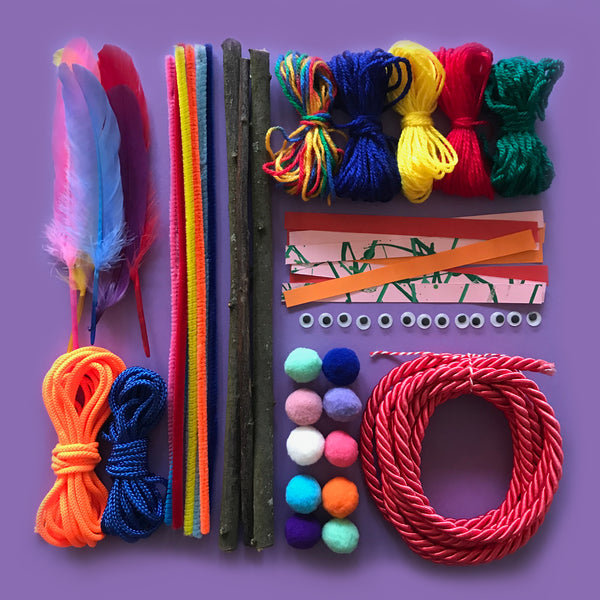 Simple weaving craft kit for kids