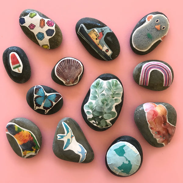 DIY story stones craft activity for kids