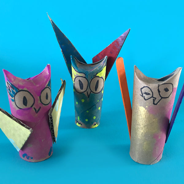 toilet roll owls craft for kids