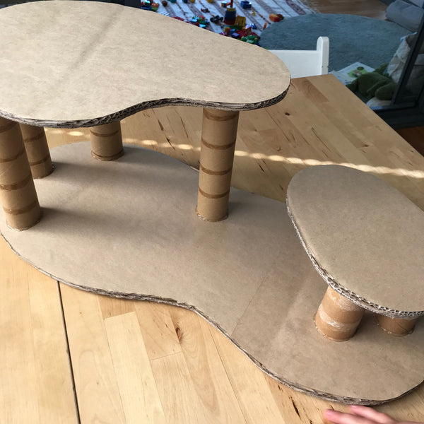 how to make a cheap cardboard toy treehouse