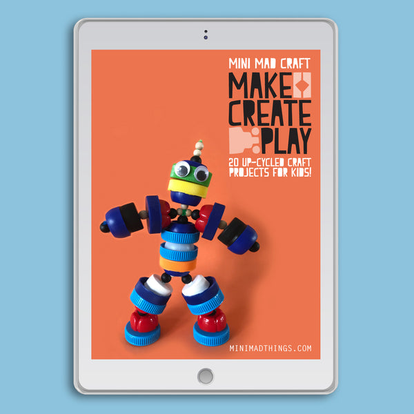 up-cycled recycled kids craft ideas e-book by mini mad things